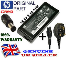 Genuine Original HP Compaq 463553-001 Charger AC Power Supply Adapter + UK Cable