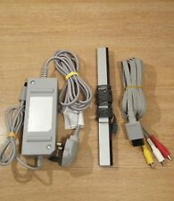 Official Nintendo Wii Cables Power Supply PSU AV Lead Sensor Bar