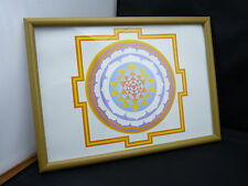 Print Design of the SRI-YANTRA Symbol, Framed with Glass *CBP