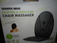 Sharper Image Vibrating Chair Massager with Heat & Car Adapter Inc. used 45 min.