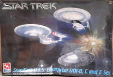 Vintage STAR TREK Enterprise B,C,E 3 Ship Set Model Kit-AMT-FREE S&H(STMO-8002)