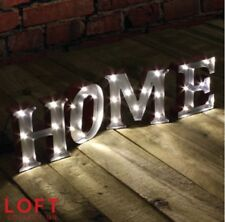 NEW LOFT COLLECTION 27 LED METAL MARQUEE HOME SWEET HOME LIGHT BEST GIFTS