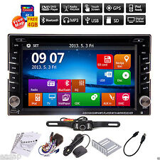 Double 2 Din In Dash GPS Navi Car DVD Player Bluetooth Auto Stereo Radio iPod TV