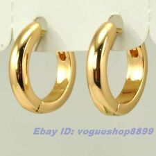 """0.5"""" REAL SUBLIMATE 18K YELLOW GOLD GP HOOP EARRING SOLID FILL GEP EARBOB EAR"""