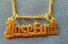 Personalized 10K Solid Gold  Name Necklace.   JOSEFINA    ((286))