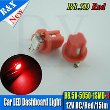10 x 12V 5050 B8.5D 509T LED Car Instrument Cluster Gauge Twist Lock Bulbs RED