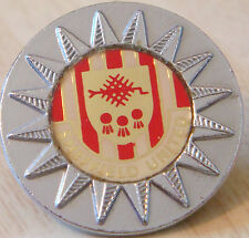 SHEFFIELD UNITED Vintage 70s 80s insert type Badge Brooch pin Chrome 26mm x 26mm