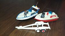 Playmobil Bundle. Fire Boat, Customs and trailer