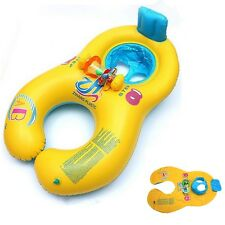 Inflatable Swimming Ring Mother & Baby Swim Float Adult Kid's Seat Pool