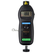LCD 2 in 1 Non-contact Laser RPM Rotation / Photo Tach Contact Tachometer