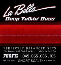 LA BELLA 760FS-S DEEP TALKIN' FLATWOUND BASS STRINGS, SHORT SCALE 4's - 45-105