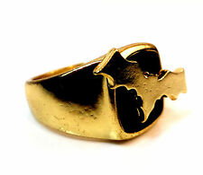 UNIQUE MENS GOLD BATMAN WINGS RING COOL RETRO BRAND NEW (A16)