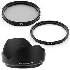 67mm Lens Hood,CPL,MCUV Filters for Canon EOS 7D 50D 60D 600D T3i 18-135mm SLR