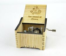 Personalized Hand Crank Wooden Music Box (The sound of silence)