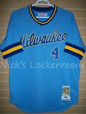 AUTHENTIC Mitchell & Ness 82 Milwaukee Brewers Paul Molitor Throwback Jersey 52