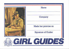1990's UK GIRL GUIDES World Scout Founder Lord Baden Powell of Gilwell (BP) CARD