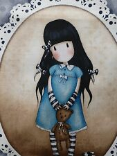 GORJUSS GIRL Fabric Cotton Craft Panel Girl Craft Quilting Santoro Teddy Bear