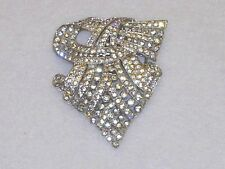 Vintage Signed Trifari KTF 1937 Alfred Philippe Art Deco Rhinestone Dress Clip