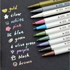 Metallic Waterproof Marker Pens Multi Colorful Ink Scrapbook Deco Card Making