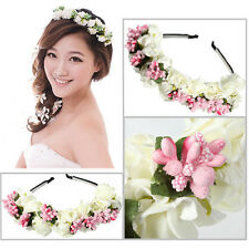 Flower Boho Crown Festival Headband Wedding Garland Floral Hairband Accessories