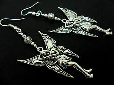 A PAIR OF TIBETAN SILVER BIG DANGLY  FAIRY/ANGEL  EARRINGS. NEW.
