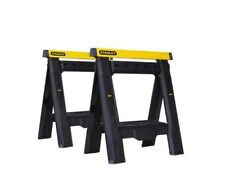 Stanley Height Adjustable Sawhorse 2 Pack Workbench Workhorse Table Bench Tool