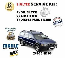 FOR VOLVO XC70 2.4D D5 185bhp 8/2005- NEW OIL AIR FUEL 3 FILTER SERVICE KIT OE