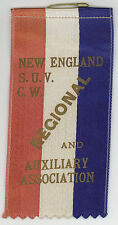1930s RIBBON Sons Union Veterans Civil War SUVCW New England REGION Auxiliary