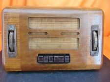 Vintage 1938 GENERAL ELECTRIC GD-60 Push Button Wood Cabinet TUBE RADIO