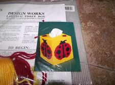 Design Works LADYBUG Tissue Box Cover Plastic Canvas Kit
