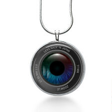 Camera Lens Necklace - Photography Jewelry - Handmade - Art Pendant