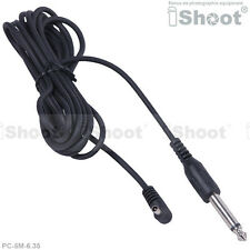 5m PC Male Sync to 6.35mm Plug cable/Cord fr Studio flash&Wireless Flash Trigger