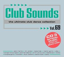 CLUB SOUNDS,VOL. 69 3 CD NEU - CALVIN HARRIS, MR. PROBZ, BAKERMAT, AVICII