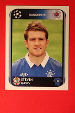 PANINI CHAMPIONS LEAGUE 2010/11 # 183 RANGERS FC DAVIS BLACK BACK MINT!