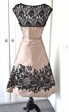 Phase Eight Fit & Flare lace Dress Size 12 Wedding Mocha AUDLEY Mother of Bride