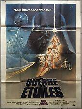Affiche LA GUERRE DES ETOILES Star Wars GEORGE LUCAS Harrison Ford 120x160 1977
