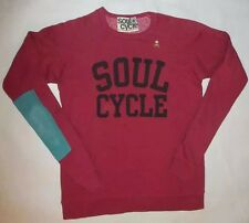 NWOT SOULCYCLE RED SWEATSHIRT GOLD SKULL EAST WEST WHEEL LOUNGE SPIN YOGA sz S