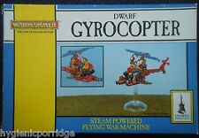 1993 Dwarf Gyrocopter Steam Powered Flying War Machine 0842 Games Workshop MIB
