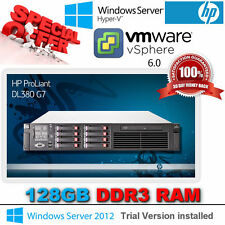 HP Proliant DL380 G7 (2x 2.93Ghz Six Core) X5670 Xeon 128GB DDR3 8x300Gb SAS 10K