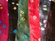 "INDIAN100%PURE SILK PATTERNED SCARVES IN 6 DIFFERENT COLOURS 7""X40""£4.95eachNWT"