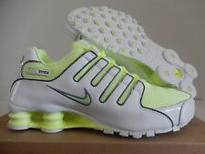 WMNS NIKE SHOX NZ WHITE-LIQUID LIME-COOL GREY SZ 7.5 [314561-130]