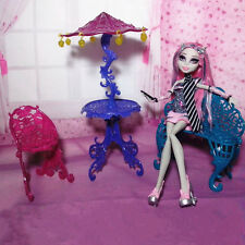 Toy Furniture Lot Couch Chairs Table Sun Umbrella Gift for Monster High dolls