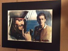 Pirates of the Caribbean Print Jack Sparrow Will Turner Depp Bloom Disney New