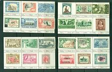 British Commonwealth mint and used collection on ancient sales sheets CV $38.00
