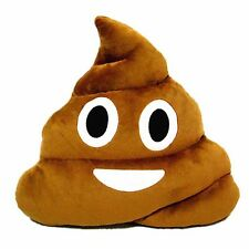 13 Inch Poop Poo Emoji Emoticon Pillow Brown Stuffed High Quality Plush Soft Toy
