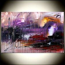 PURPLE Painting ABSTRACT ART Canvas Original Art Contemporary Paintings Art