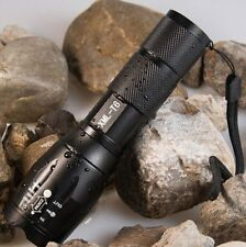E17 Touch Cree XM-L T6 2000 Lumen XML LED Flashlight Zoomable Life