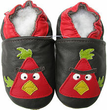 carozoo bird dark brown 2-3y new soft sole leather toddler shoes