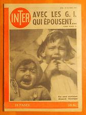 INTER 6 du 24/10/1945-Les américains cherche la femme parfaite-Miracle de Sévres