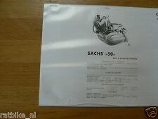 S0039 SACHS--TECHNICAL INFO BROMFIETS---SACHS 50 MET 3 VERSNELLINGEN MODEL 1957